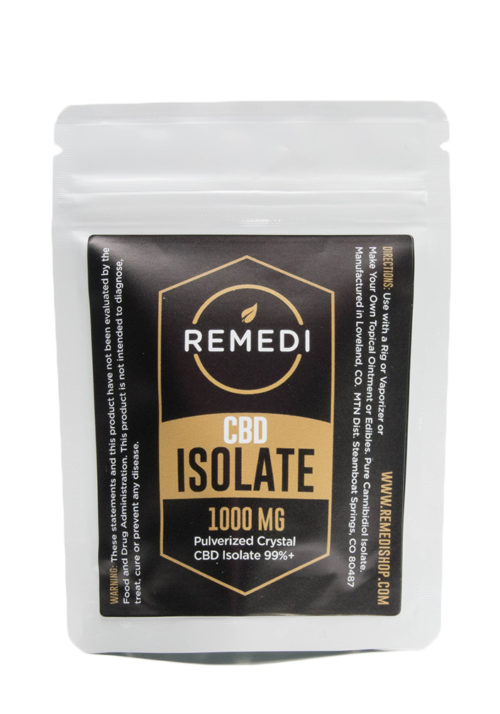 Remedi CBD Isolate 99% Potency – 1000mg