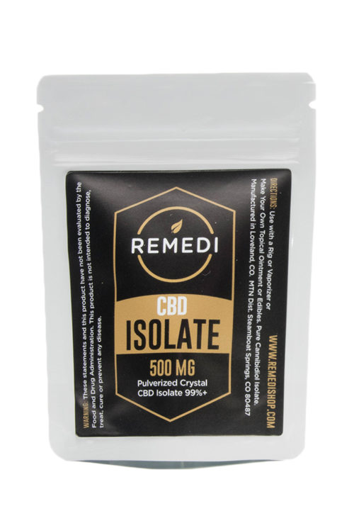 Remedi CBD Isolate 99% Potency – 500mg
