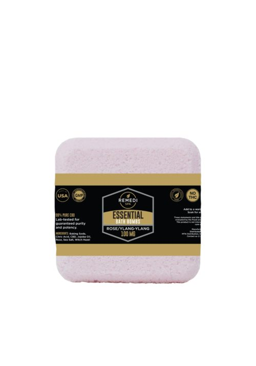 Remedi Spa Bath Bomb 100mg, Rose/Ylang-Ylang