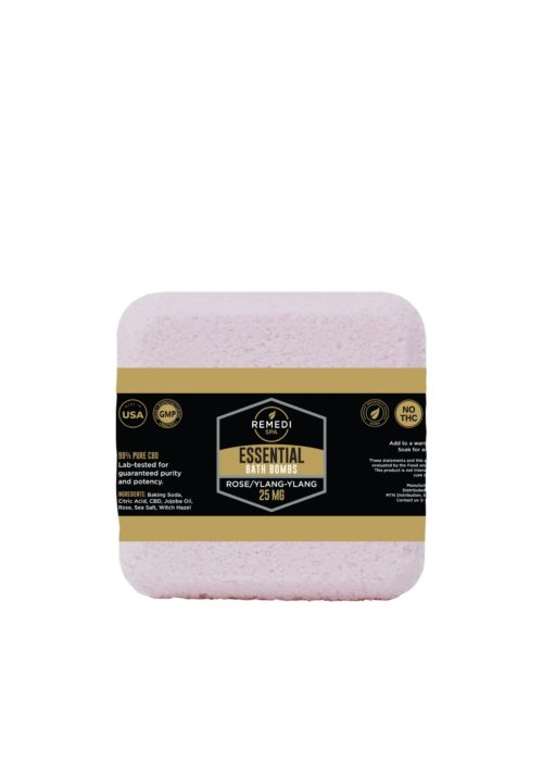 Remedi Spa Bath Bomb 25mg, Rose/Ylang-Ylang