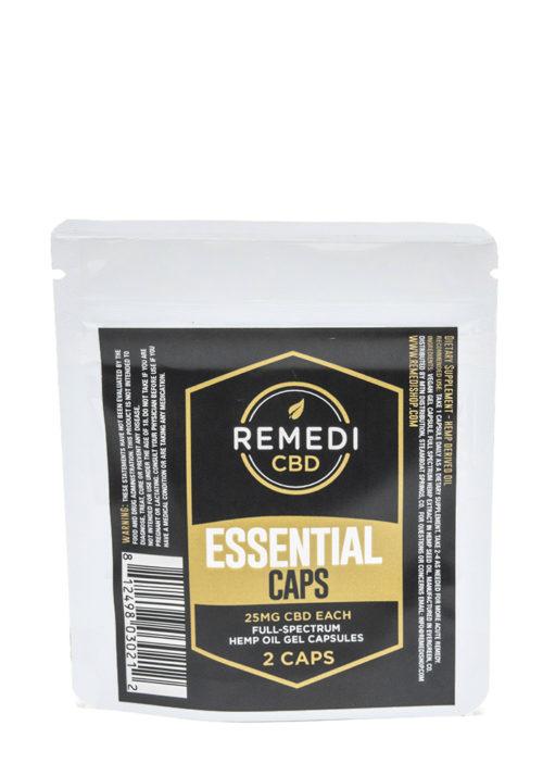 Remedi CBD Essential Capsules Full Spectrum (2 pack) – 50mg