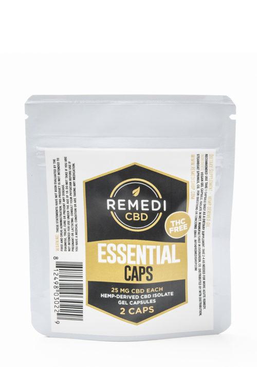 Remedi CBD Essential Capsules THC Free (2 pack) – 50mg