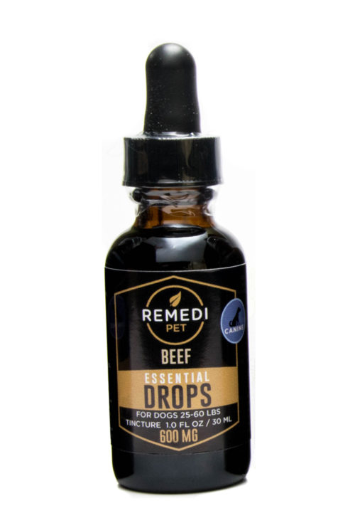 Remedi Pet CBD Essential Drops Tincture for Dogs – 600mg – Beef Flavor – 30ml
