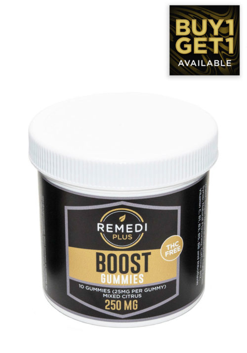 Remedi Plus Boost Gummies 250mg, Mixed Fruits