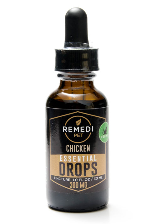 Remedi Pet CBD Essential Drops Tincture for Cats – 300mg – Chicken Flavor – 30ml