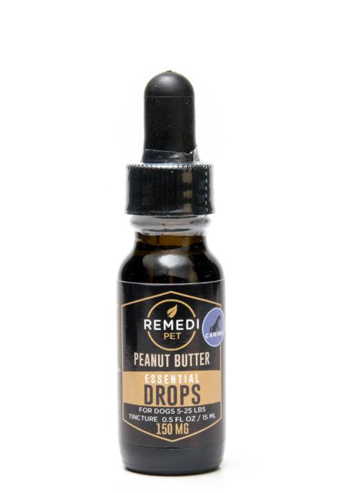 Remedi Pet CBD Essential Drops Tincture for Dogs – 150mg – Peanut Butter Flavor – 15ml