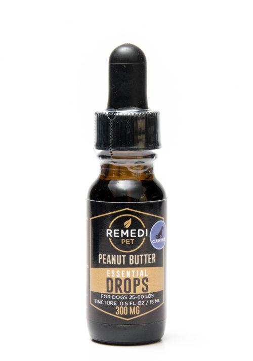 Remedi Pet CBD Essential Drops Tincture for Dogs – 300mg – Peanut Butter Flavor – 15ml