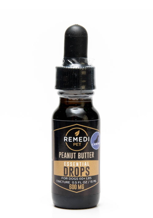 Remedi Pet CBD Essential Drops Tincture for Dogs – 600mg – Peanut Butter Flavor – 15ml