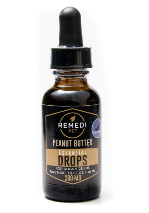 Remedi Pet CBD Essential Drops Tincture for Dogs – 300mg – Peanut Butter Flavor – 30ml