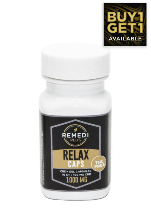 Remedi Plus Relax Capsules THC Free – 1000mg