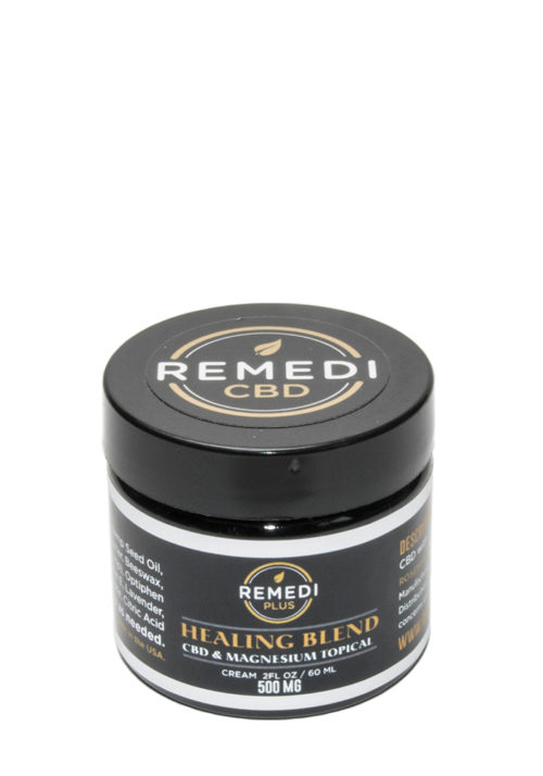 Remedi Plus Healing Blend CBD and Magnesium Topical Cream – 500mg
