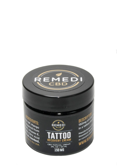 Remedi Plus Tattoo Recovery Cream CBD Topical Cream – 150mg