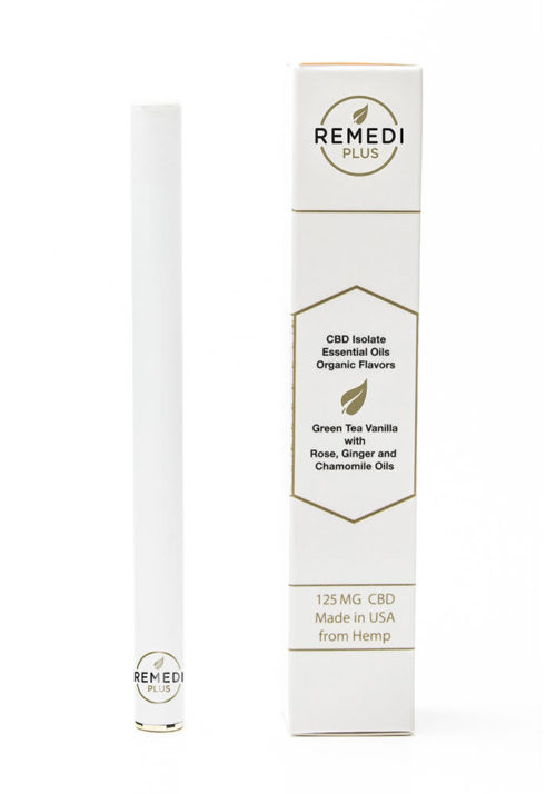 Remedi White, Green Tea/Vanilla 125mg Diffuser Pen